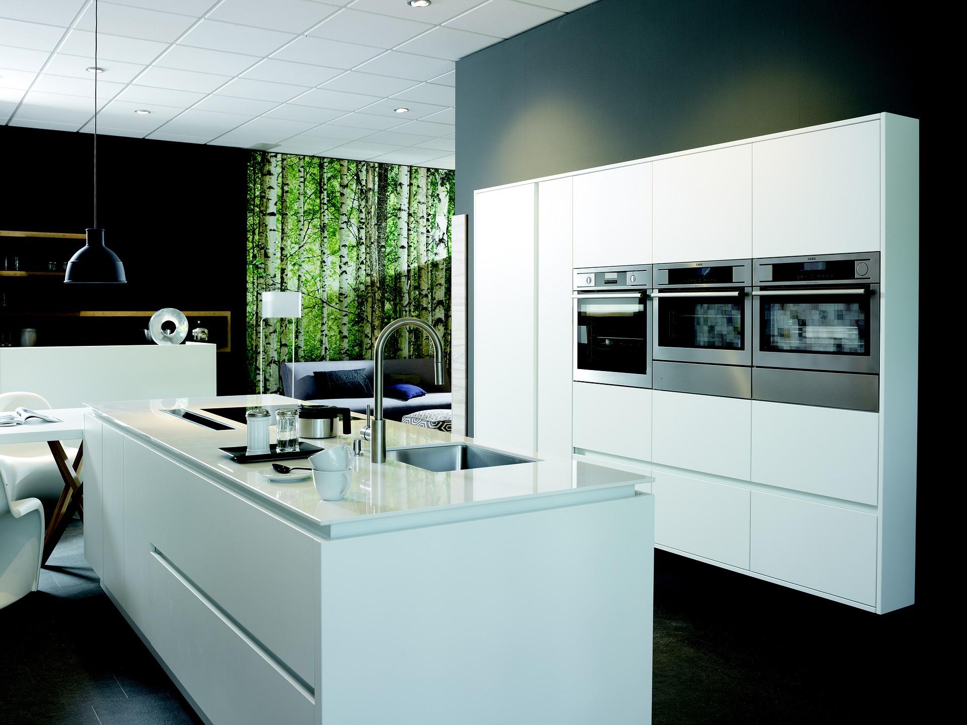 kuchnia biało czarna