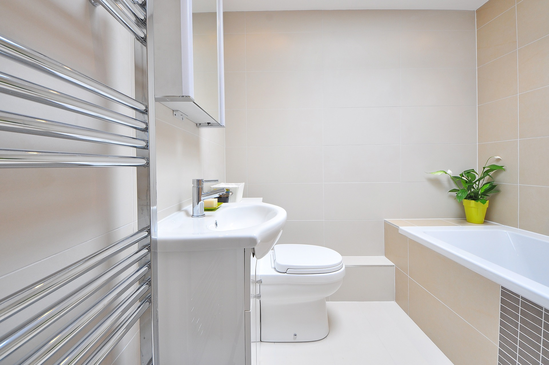 Biało Szara łazienka Inspiracje