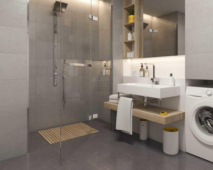 Płytki imitujące beton jako pomysł na modną łazienkę