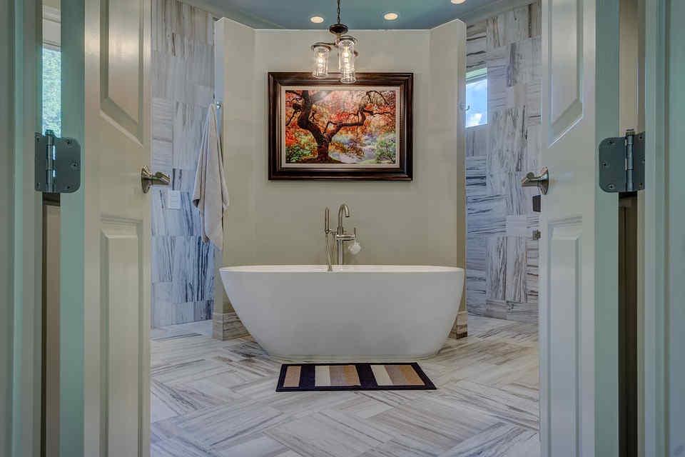 Aranżacja łazienki W Stylu Minimalistycznym Płytki